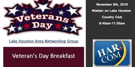 Veteran's Day Breakfast Lake Houston Area Networking Group