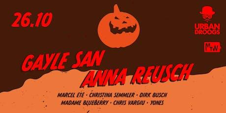 Halloween Droogs mit Gayle San und Anna Reusch Tickets