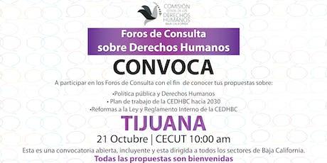 Foros de Consulta sobre Derechos Humanos - Tijuana tickets