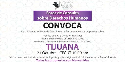 Foros de Consulta sobre Derechos Humanos - Tijuana