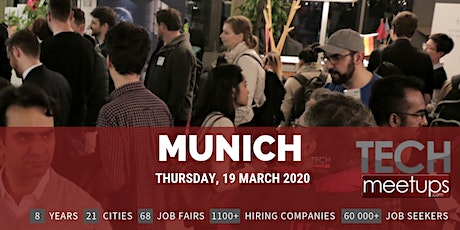 Munich Tech Job Fair Spring 2020 by Techmeetups billets