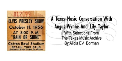 OCSFA Salon Series Event: A Texas Music Conversation