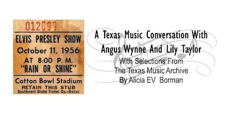 OCSFA Salon Series Event: A Texas Music Conversation tickets