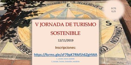 V Jornada de Turismo Sostenible - Salón de Grados del Edificio departamental entradas