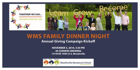 WMS Annual Giving Kickoff Dinner tickets