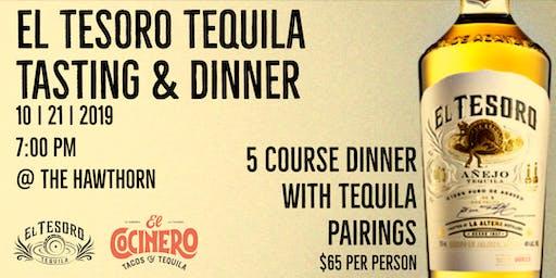 El Tesoro Tequila Tasting and Dinner