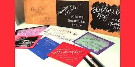 Christmas Envelope Hand Lettering & Design Workshop