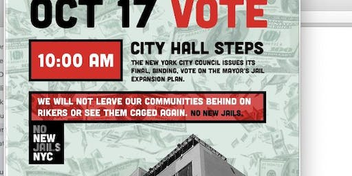 City Council Must Vote NO on New Jails