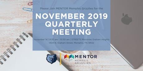 MENTOR Memphis Grizzlies November 2019 Quarterly Meeting tickets