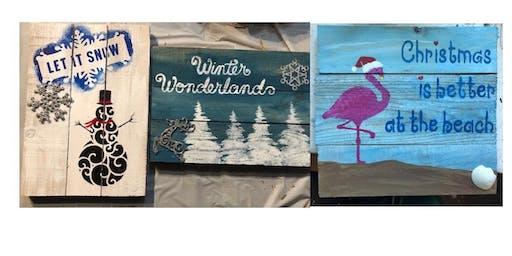 Winter Wooden Pallet Signs