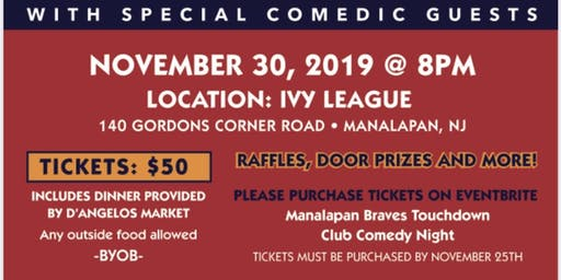 Manalapan Braves Touchdown Club  Comedy Night