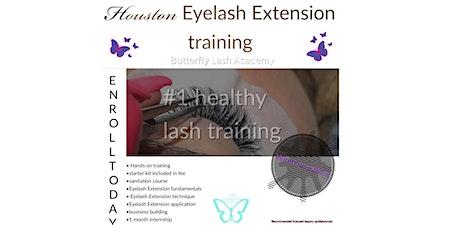 Houston EyeLash extension training tickets