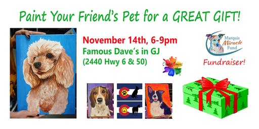 Paint Your Pet's Portrait or Silhouette on Flag Fundraiser: Marquis Miracle Fund