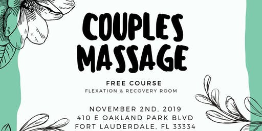 Couples Massage Course @ Recovery Room