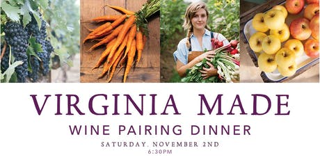 Virginia-Made Wine Pairing Dinner with Chef Ryan Ross & Lucinda Smith tickets