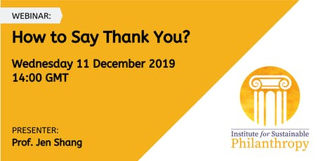 Webinar - How to Say Thank You? tickets
