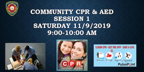 Community CPR & AED Event - Session 1 tickets