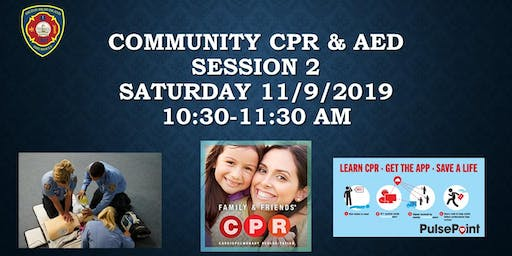 Community CPR & AED Event - Session 2