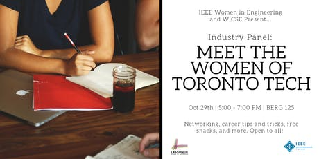 Industry Panel: Meet the Women of Toronto Tech!  tickets
