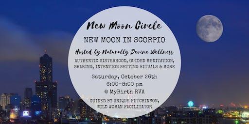 New Moon Circle RVA - October New Moon in Scorpio