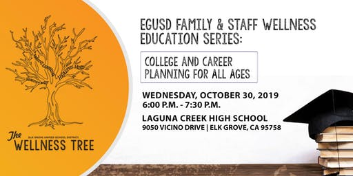 EGUSD Family & Staff Wellness Series - College and Career Planning for All Ages
