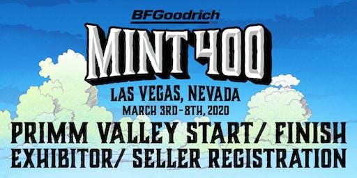 2020 Primm Valley Mint 400 Start/Finish Exhibitor/Seller Registration