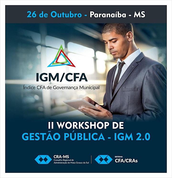 Imagem do evento II Workshop de Gestão Pública - IGM 2.0  em Paranaíba-MS