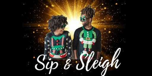 Sip & Sleigh Ugly Christmas Sweater Party