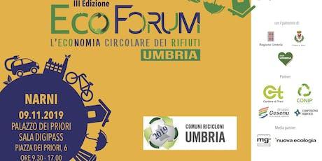 EcoForum - l'Economia Circolare dei Rifiuti in Umbria biglietti