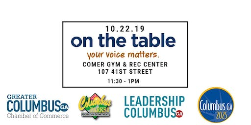 On The Table Chatt : Hosted By Chamber, Columbus 2025, Leadership Columbus, Parks & Rec
