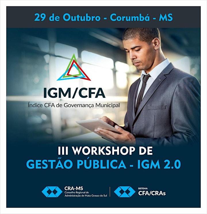 Imagem do evento III Workshop de Gestão Pública - IGM 2.0  em Corumbá-MS