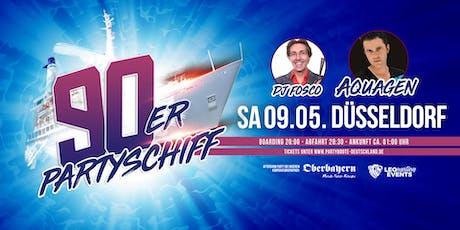 """90er Partyschiff mit AQUAGEN """"live DJ Set"""" - Düsseldorf Tickets"""