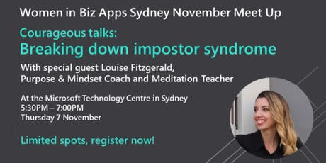 Courageous talks: Breaking down Impostor Syndrome tickets