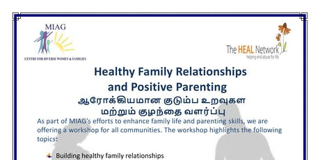 Healthy Family Relationships and Positive Parenting tickets