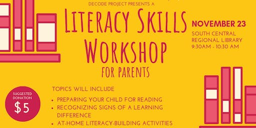 Literacy Skills Workshop for Parents