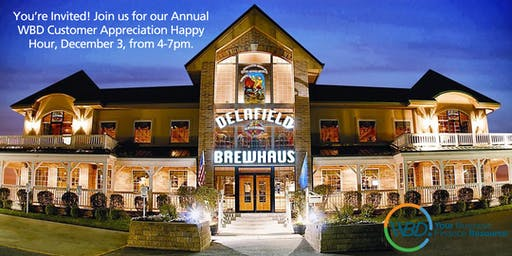 WBD Delafield Brewhaus Annual Customer Appreciation Happy Hour