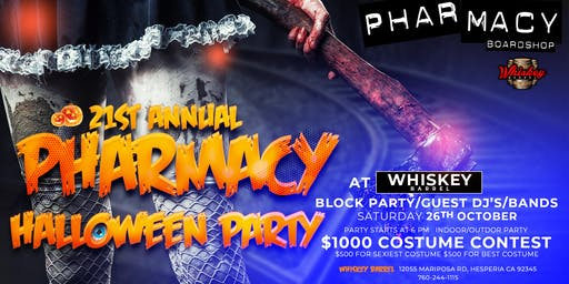 Pharmacy Boardshop 21st Annual Halloween Party