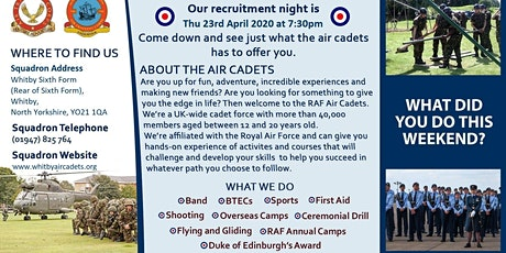 Open Evening - 740 (Whitby) Squadron RAF Air Cadets tickets