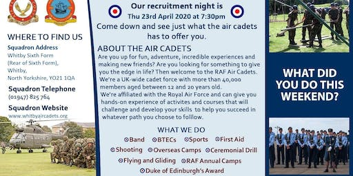Open Evening - 740 (Whitby) Squadron RAF Air Cadets