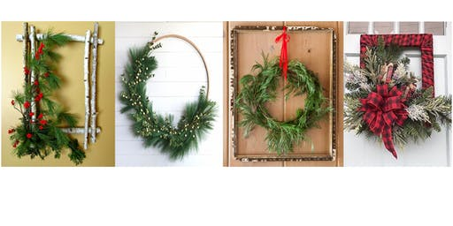 Holiday Mixed Greens Wreath Workshop