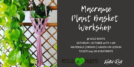 Macrame Plant Basket Workshop tickets