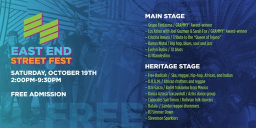 East End Street Fest 2019 - FREE Event