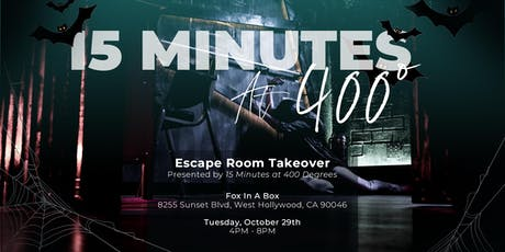 Escape Room Takeover Presented by 15 Minutes at 400 Degrees tickets