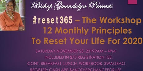 #reset365 The Workshop: 12 Principles to Reset Your Life tickets