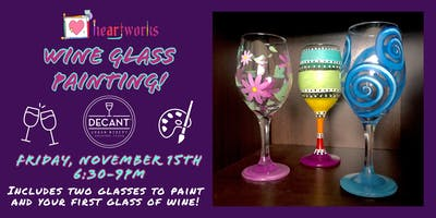 Wine Glass Painting at Decant Urban Winery!