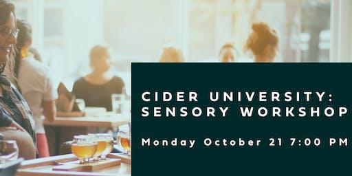 Cider University: Sensory Workshop