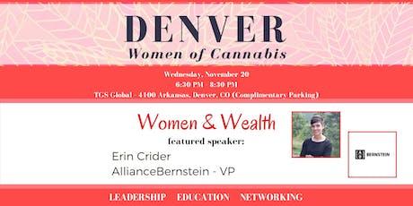 Denver Women of Cannabis - November Networking Event tickets