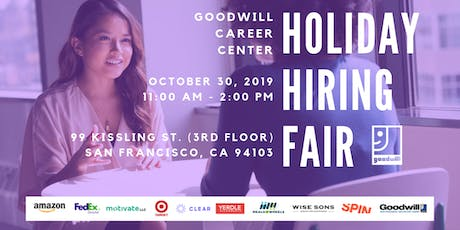 Goodwill Career Center's Holiday Hiring Fair tickets
