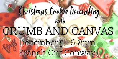 Christmas Cookie Decorating with Crumb and Canvas
