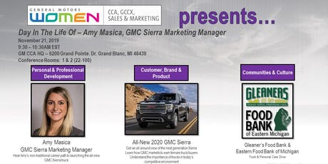 """GM WOMEN """"Day In The Life Of"""" Event tickets"""